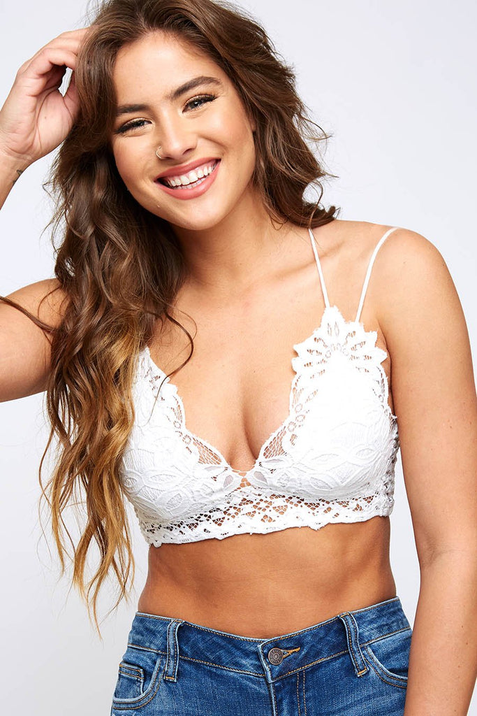 The Emmie Bralette - White