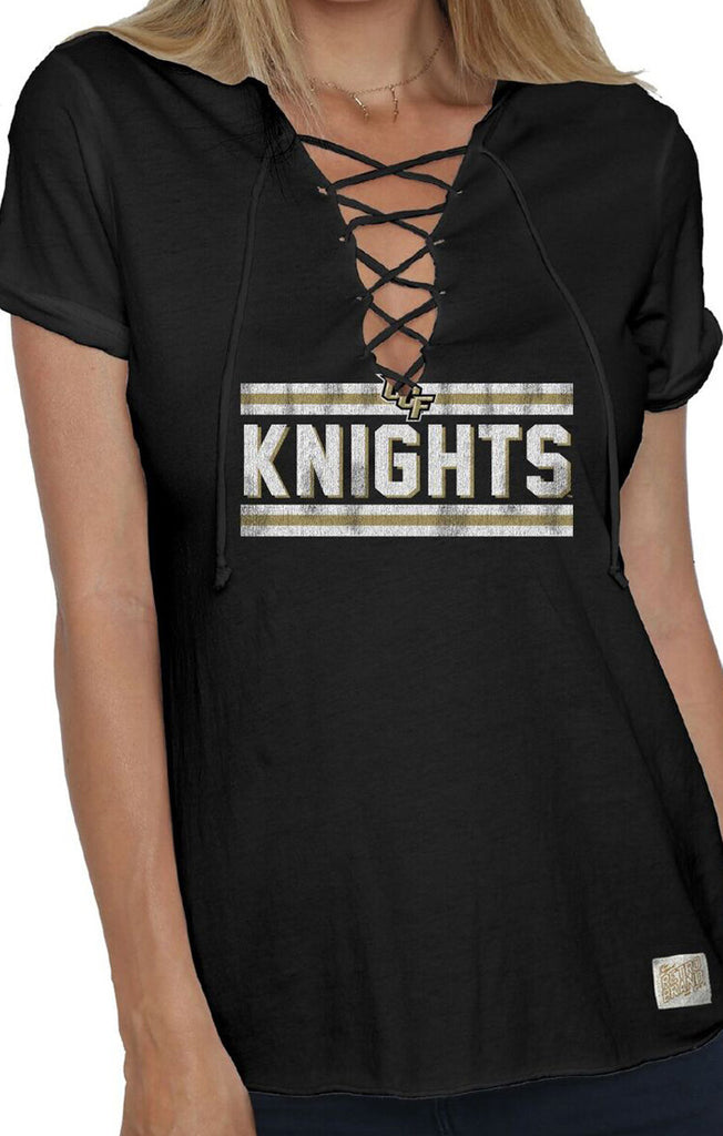 The Esmeralda Vintage UCF Lace-Up Tee