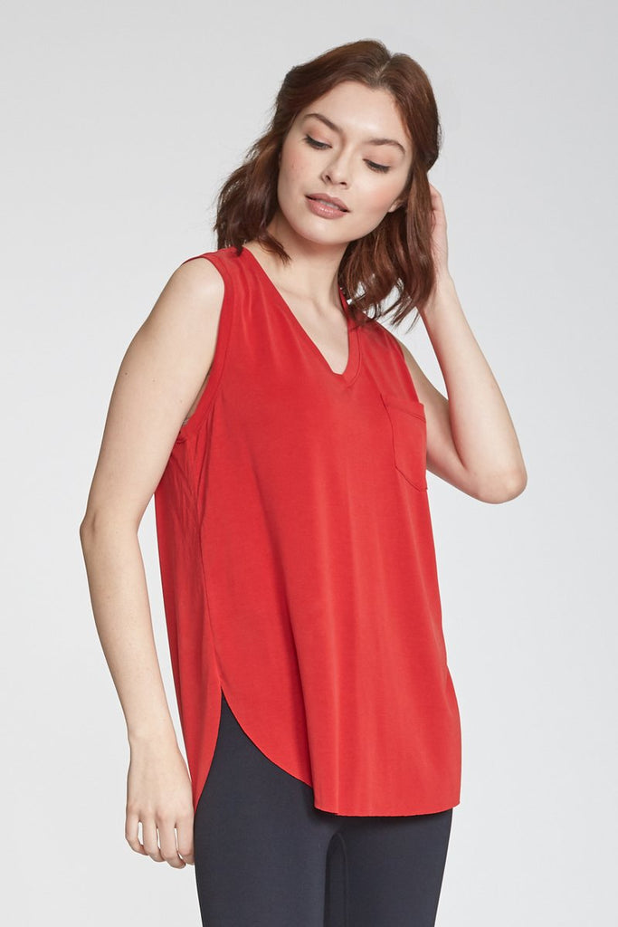 The Esther Pocket Tank (Cherry)