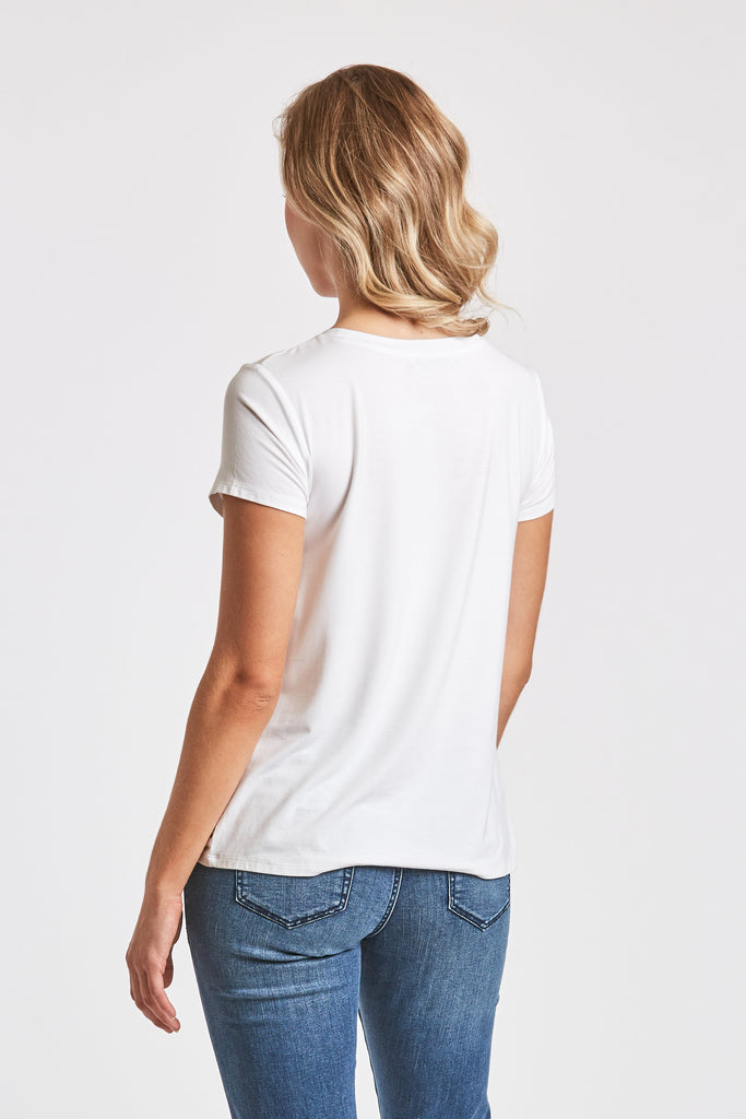 The Julia Knot Front Tee (White)