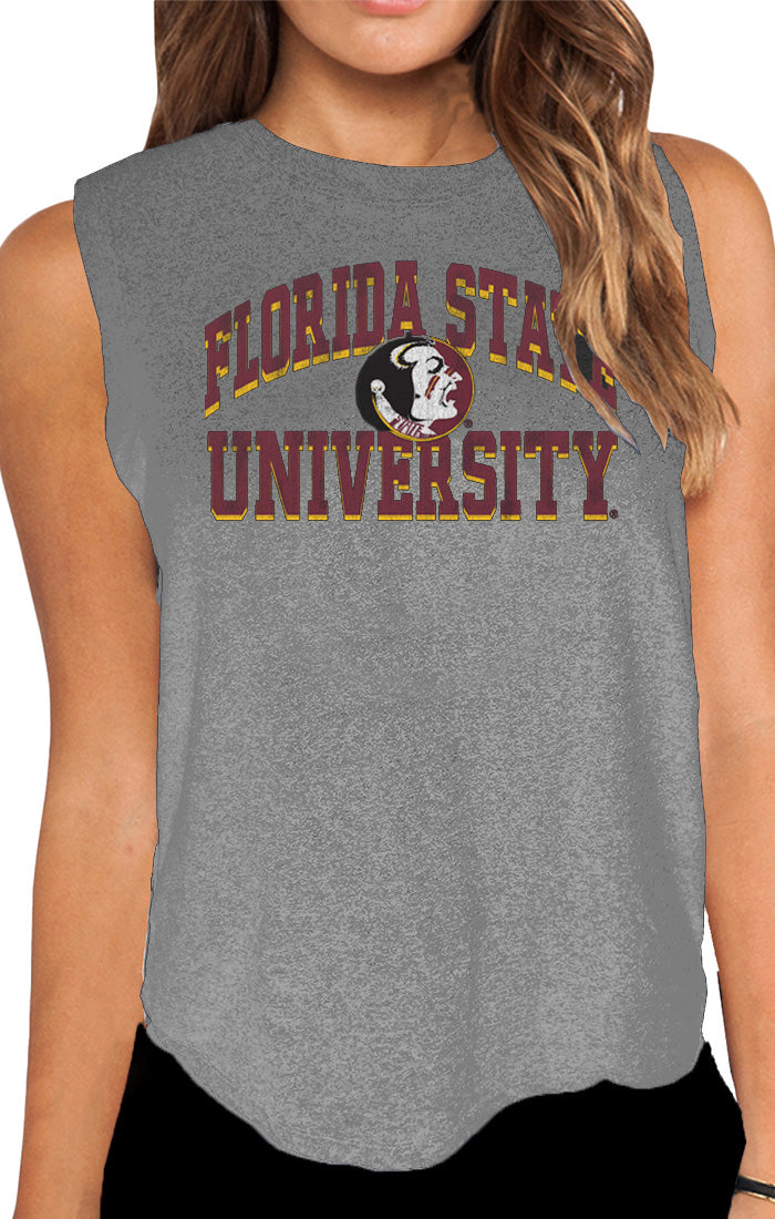 The Miley FSU Mock Twist Muscle Tank (3844852187184)