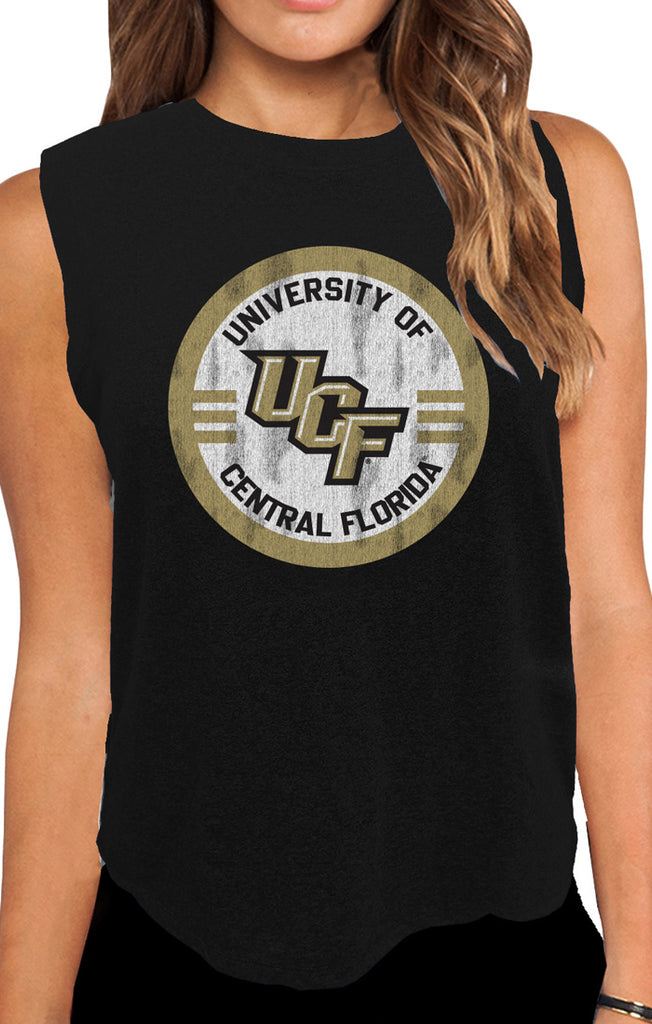 The Miley UCF Circle Mock Twist Muscle Tank
