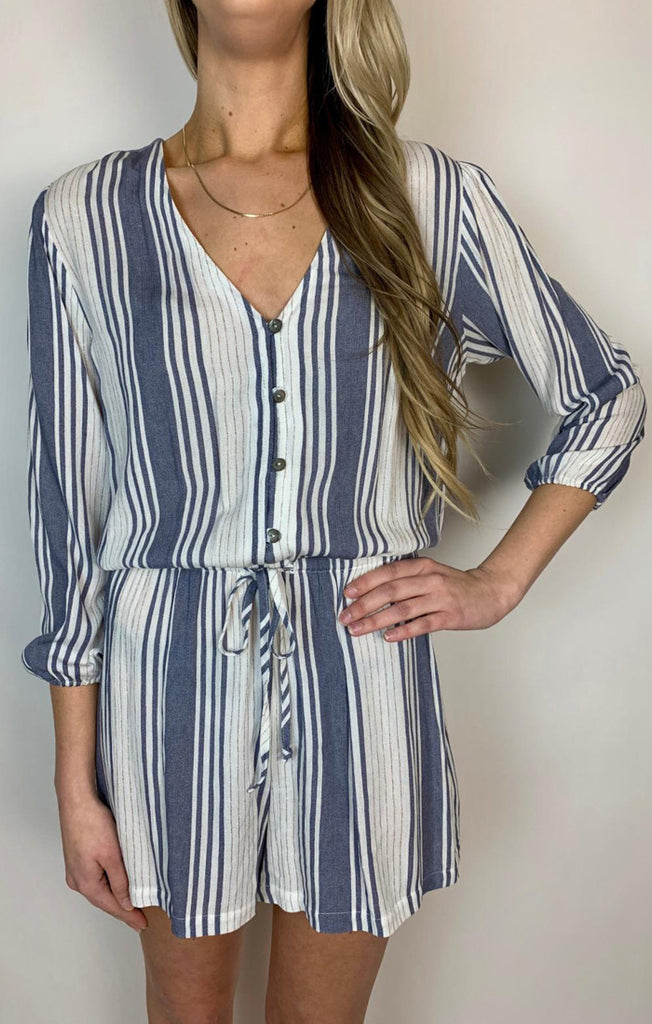 The Paxton Button Front Romper