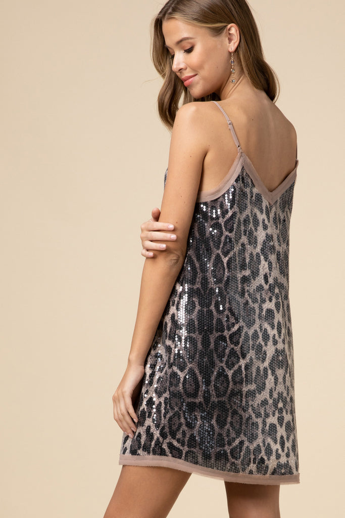 The Sequin Leopard Mini