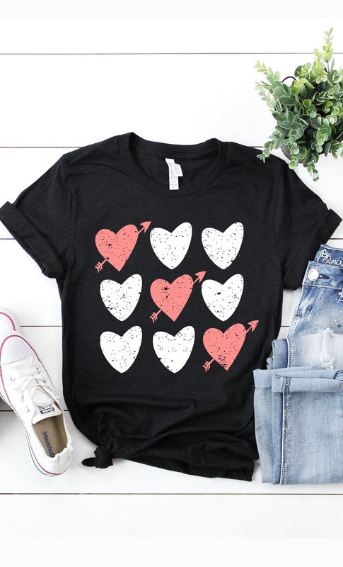 The Tic Tac Toe Hearts Graphic Tee (4430527627312)
