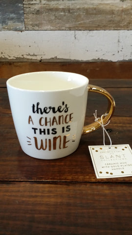 There's a Chance This is Wine - Coffee Mug Coffee Mug Slant - Bows and Arrows FSU Seminoles and UF Gators Women's Game Day Dresses and Apparel