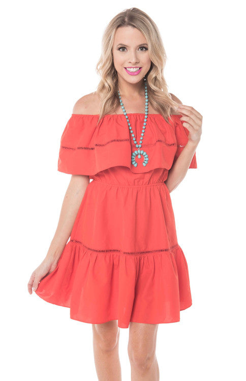Tide Off the Shoulder Dress Dress Buddy Love - Bows and Arrows FSU Seminoles and UF Gators Women's Game Day Dresses and Apparel