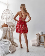 Electra Dress - Red Lace (2138953449520)