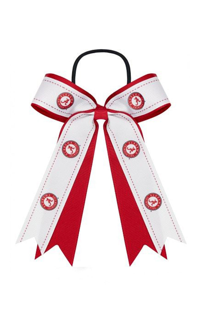 Alabama Crimson Tide Bow Ponytail Holder