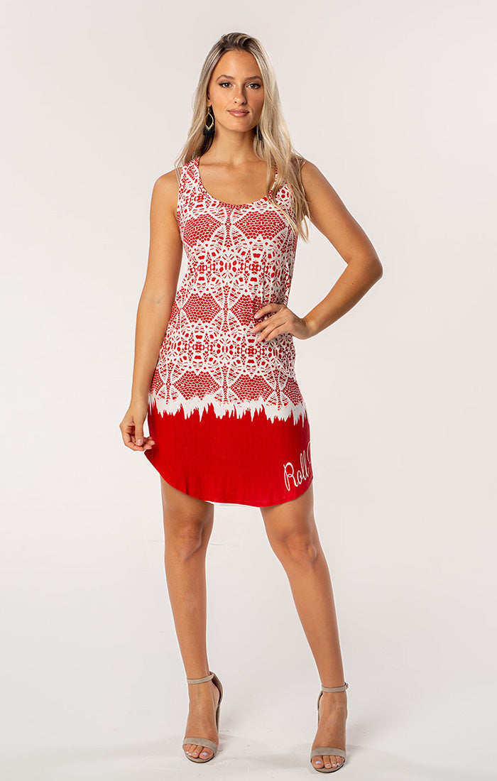 The Zoe Roll Tide Printed Game Day Dress (585550266401)