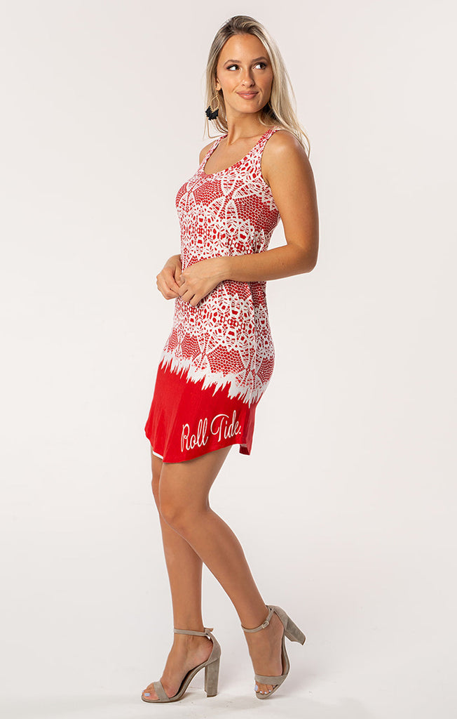 The Zoe Roll Tide Printed Game Day Dress
