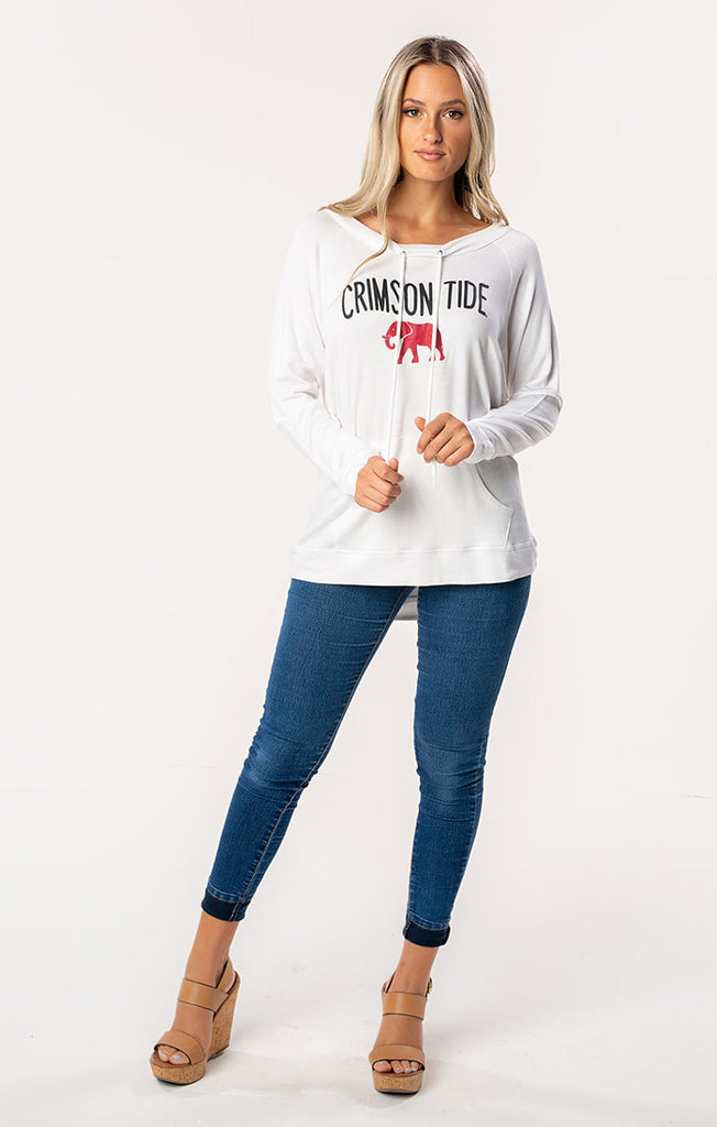The Crimson Tide Katie Cut-Out Back Pullover