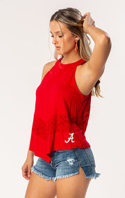 The Kennedy Lace 'Bama Game Day Top (1398660005936)