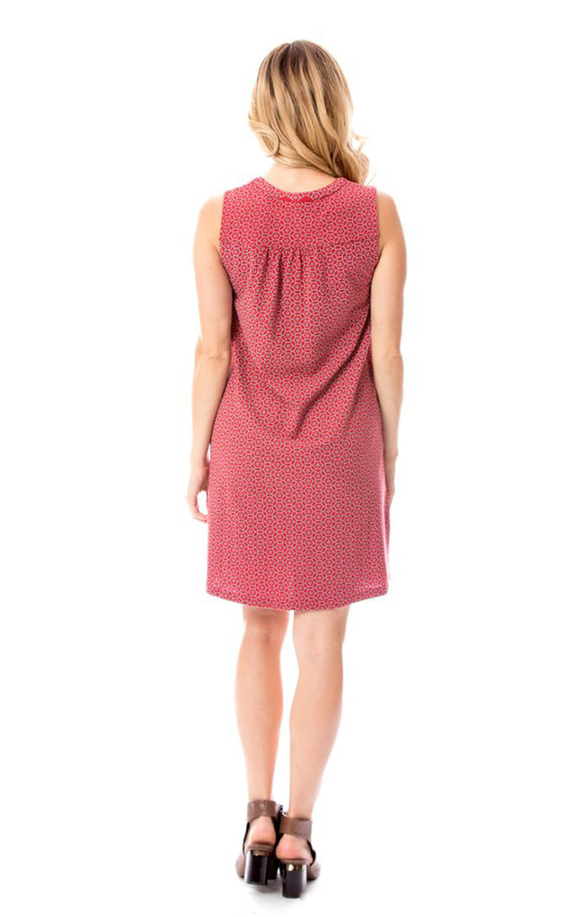 Crimson & Grey Shift Dress