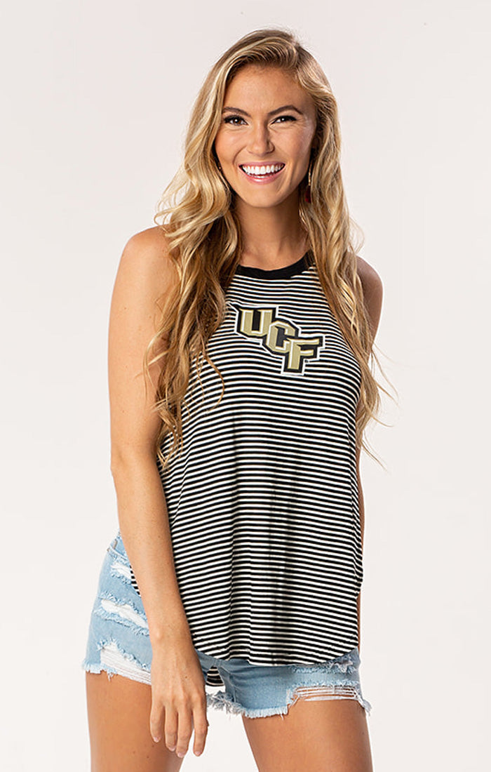 The Peyton UCF Striped Tank (3817928425520)