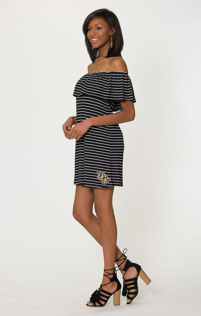 The Riley UCF Off Shoulder Game Day Dress
