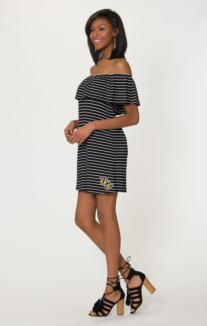 The Riley UCF Off Shoulder Game Day Dress (1378590851120)