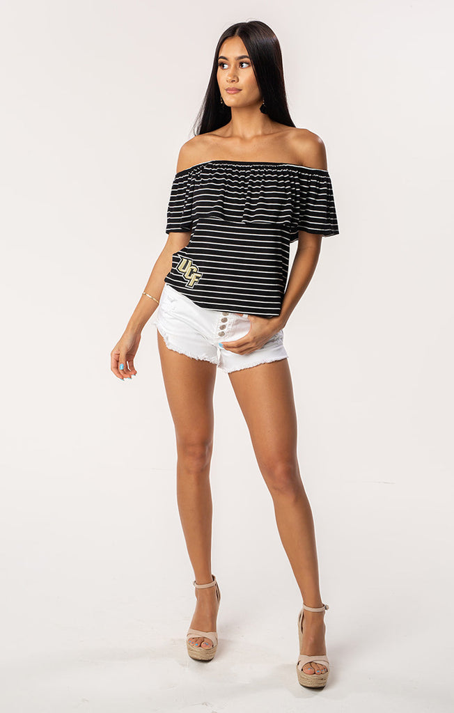 The Ryan UCF Off Shoulder Game Day Top