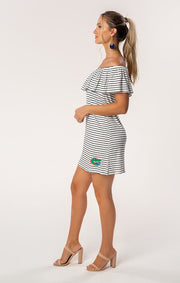 The Riley Gators Off Shoulder Game Day Dress (1378594914352)