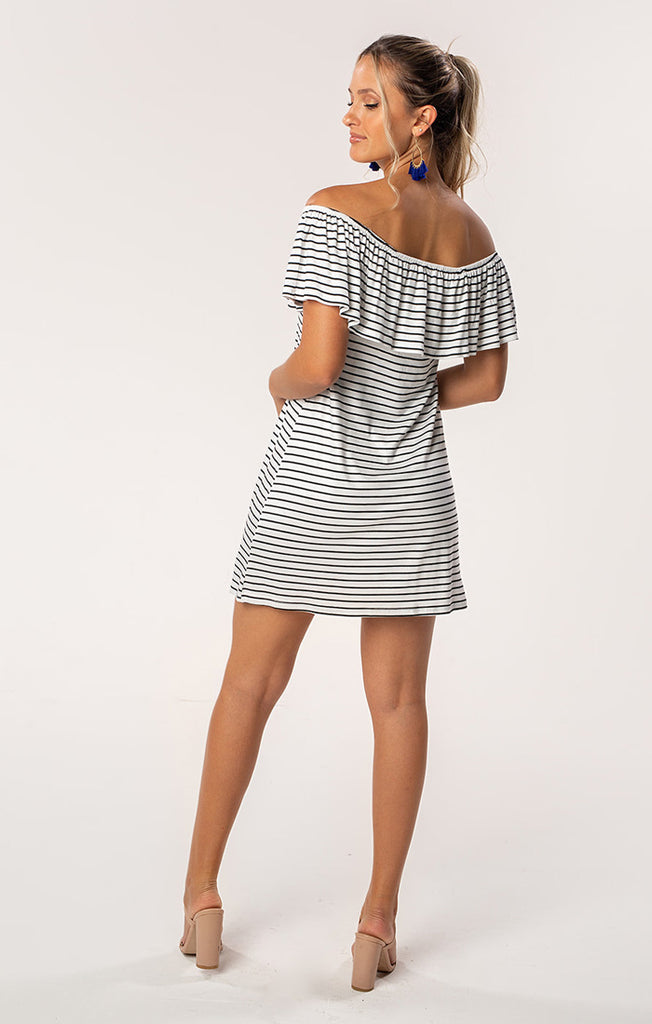The Riley Gators Off Shoulder Game Day Dress
