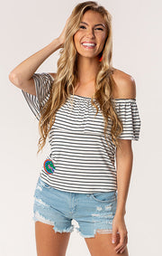 The Ryan Gators Off Shoulder Game Day Top (1378594455600)