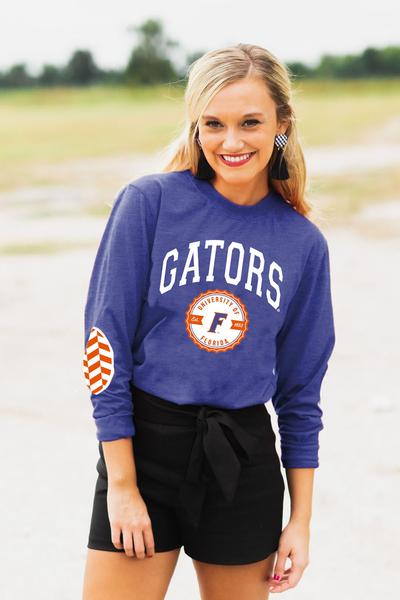 Florida Gators Elbow Patch Tee - Royal Blue