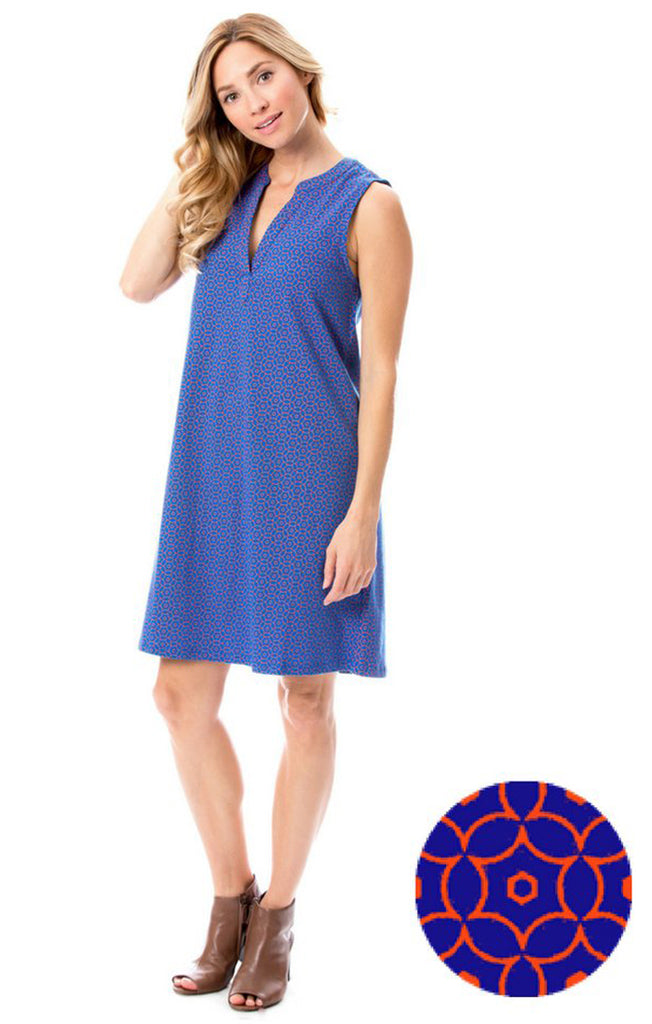 Blue & Orange Shift Dress Dress Stewart Simmons - Bows and Arrows FSU Seminoles and UF Gators Women's Game Day Dresses and Apparel