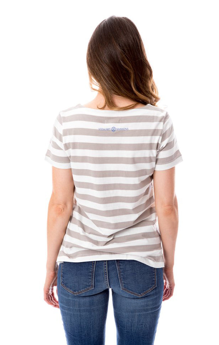 Florida Chomp Striped Tee (1372965077040)
