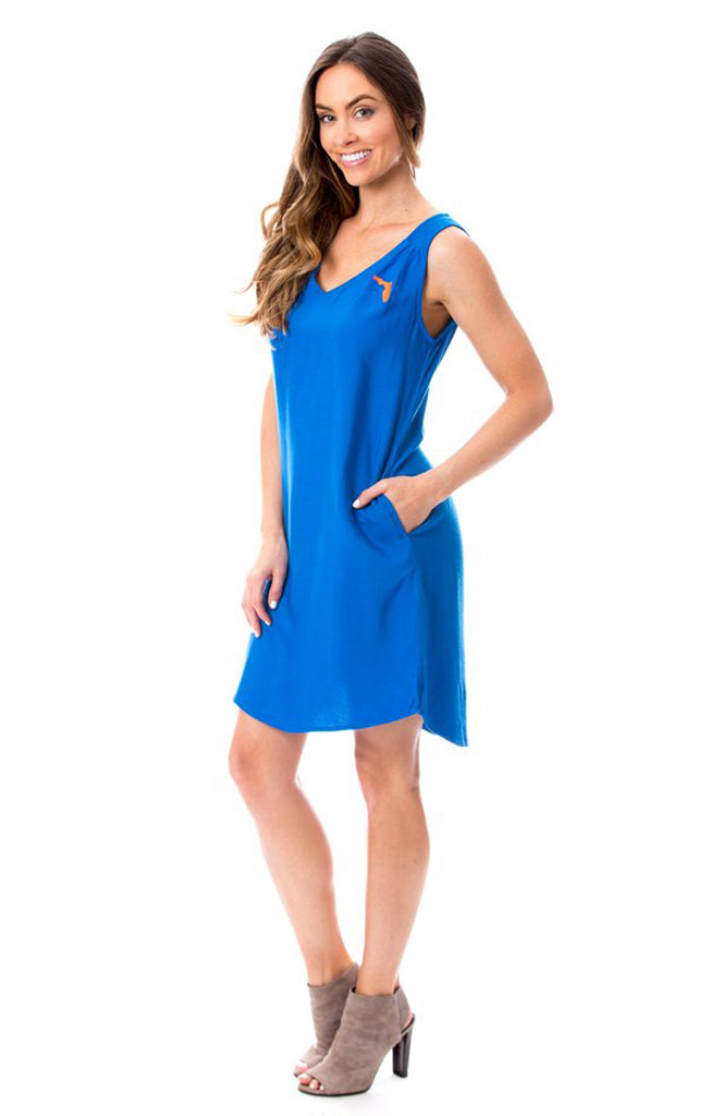 Florida Shift Dress - Royal Blue