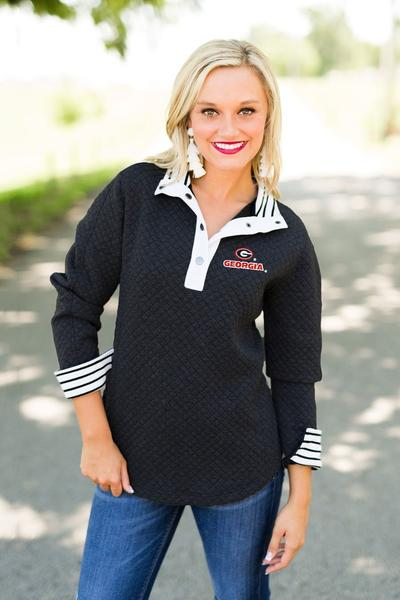 "Georgia Bulldogs ""Out of Your League"" Quarter Button Pullover (1398169370672)"