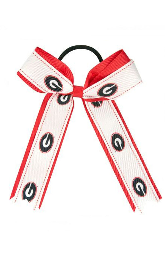 Georgia Bulldogs Bow Ponytail Holder