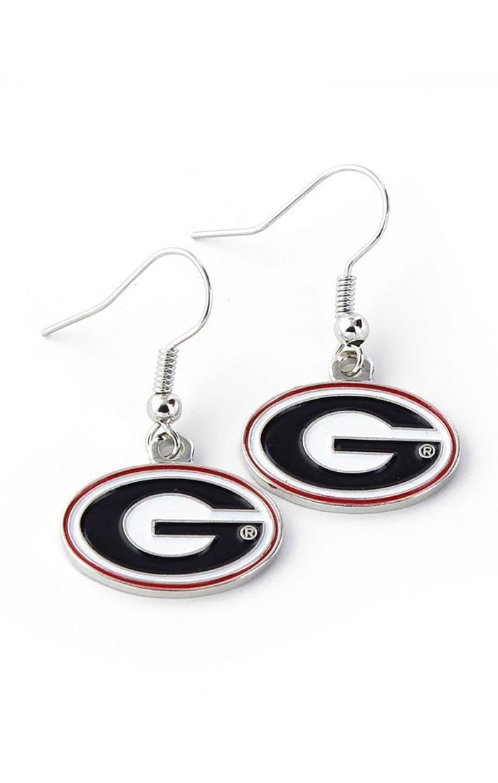Georgia Bulldogs Dangle Earrings (1375177441328)