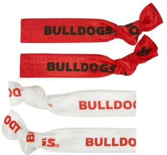 Georgia Bulldogs Elastic Hair Ties (4-Pack)