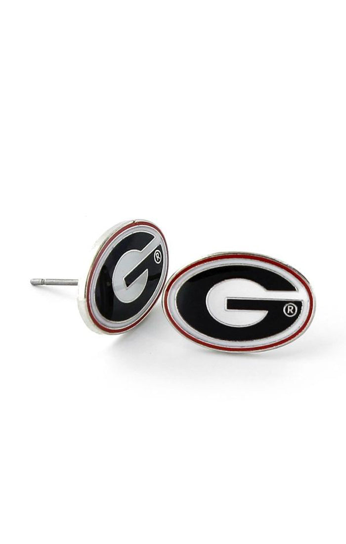 Georgia Bulldogs Team Post Earrings