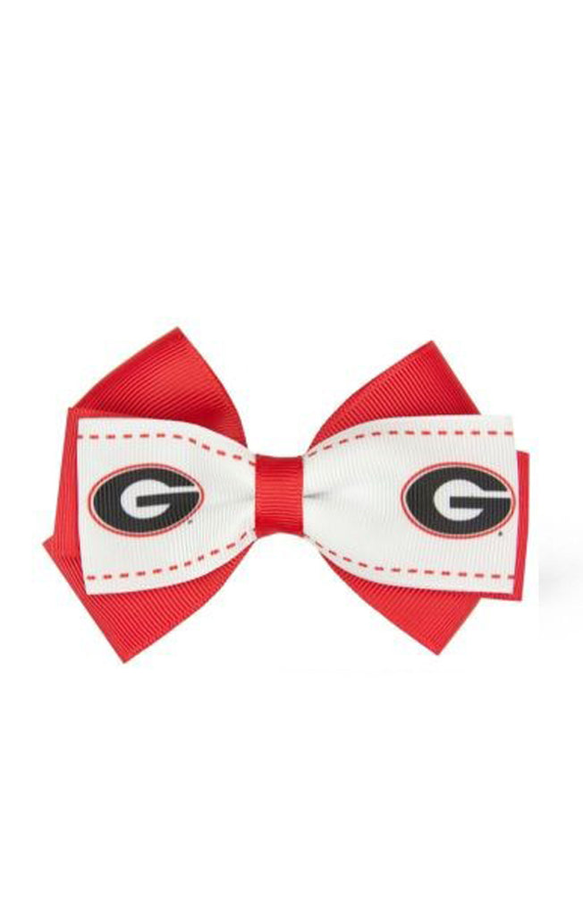 Georgia Bulldogs Two-Toned Bow Hair Clip