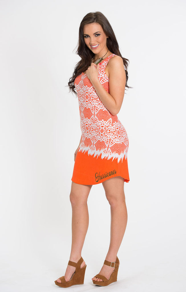 The Zoe Hurricanes Printed Game Day Dress