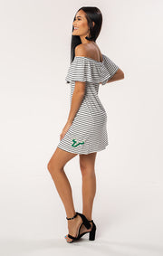 The Riley USF Off Shoulder Game Day Dress (1378587574320)