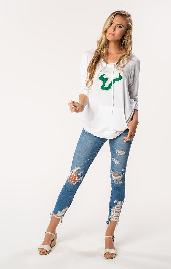 USF Bulls The Katie Cut-Out Back Pullover