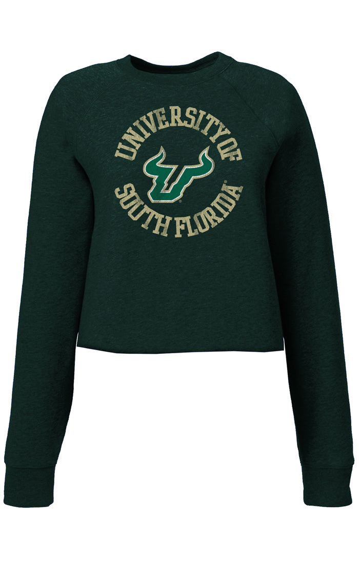 The Carlie USF Circle Crop Crew Fleece (3857074978864)