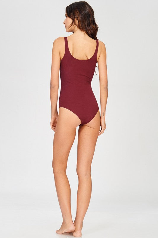 Garnet Lace-Up Game Day Bodysuit