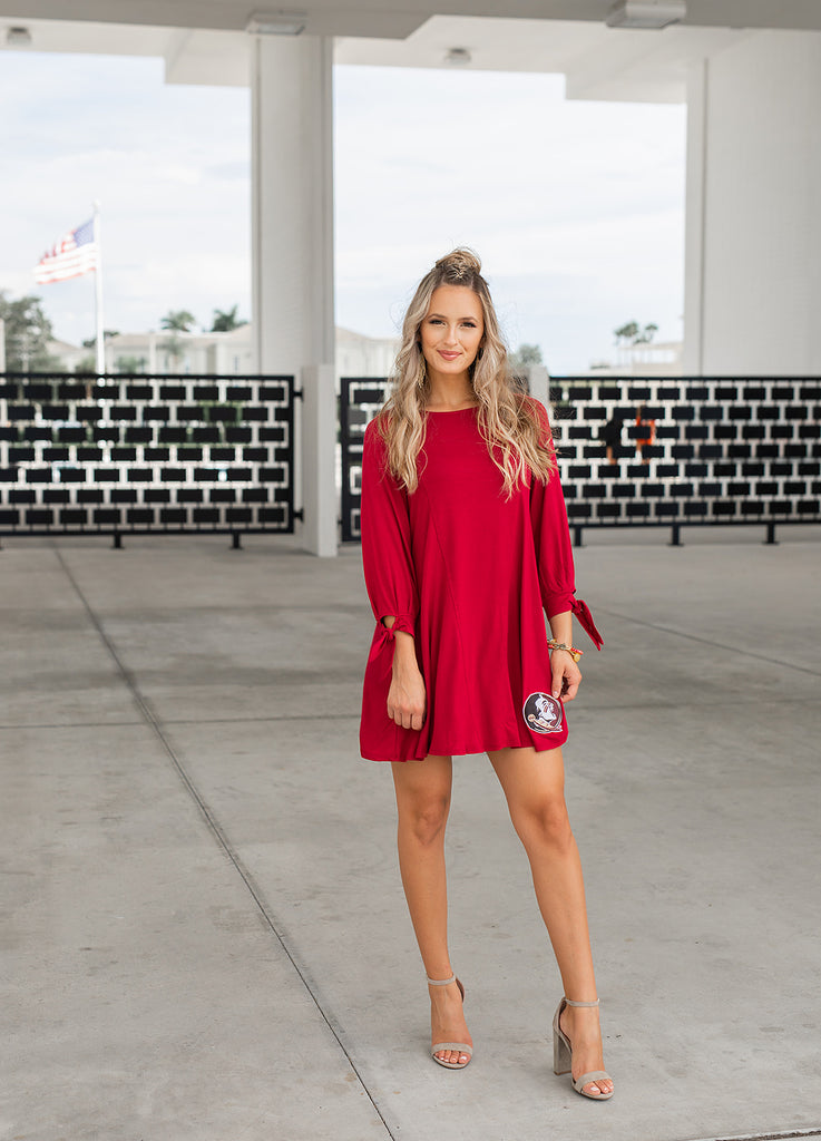 FSU Tie the Knot Game Day Dress