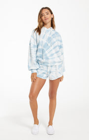 The Sadie Spiral Tie Dye Short (Blue Agave)