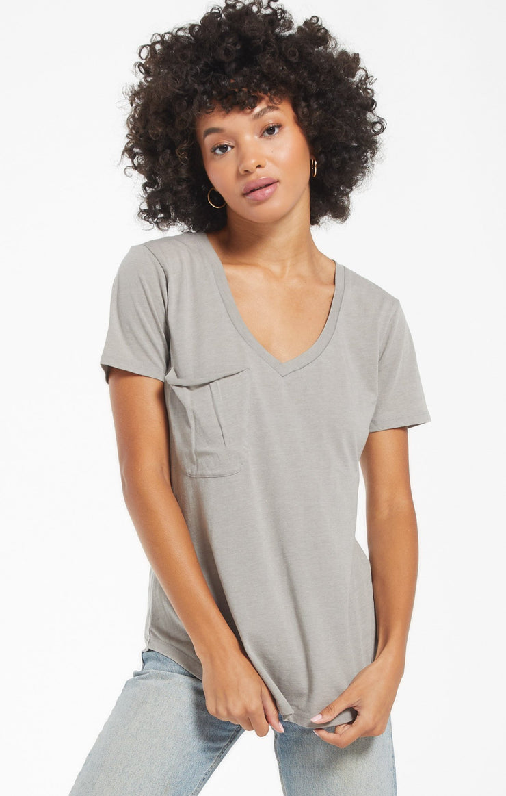 The Pocket Tee (Dusty Sage)