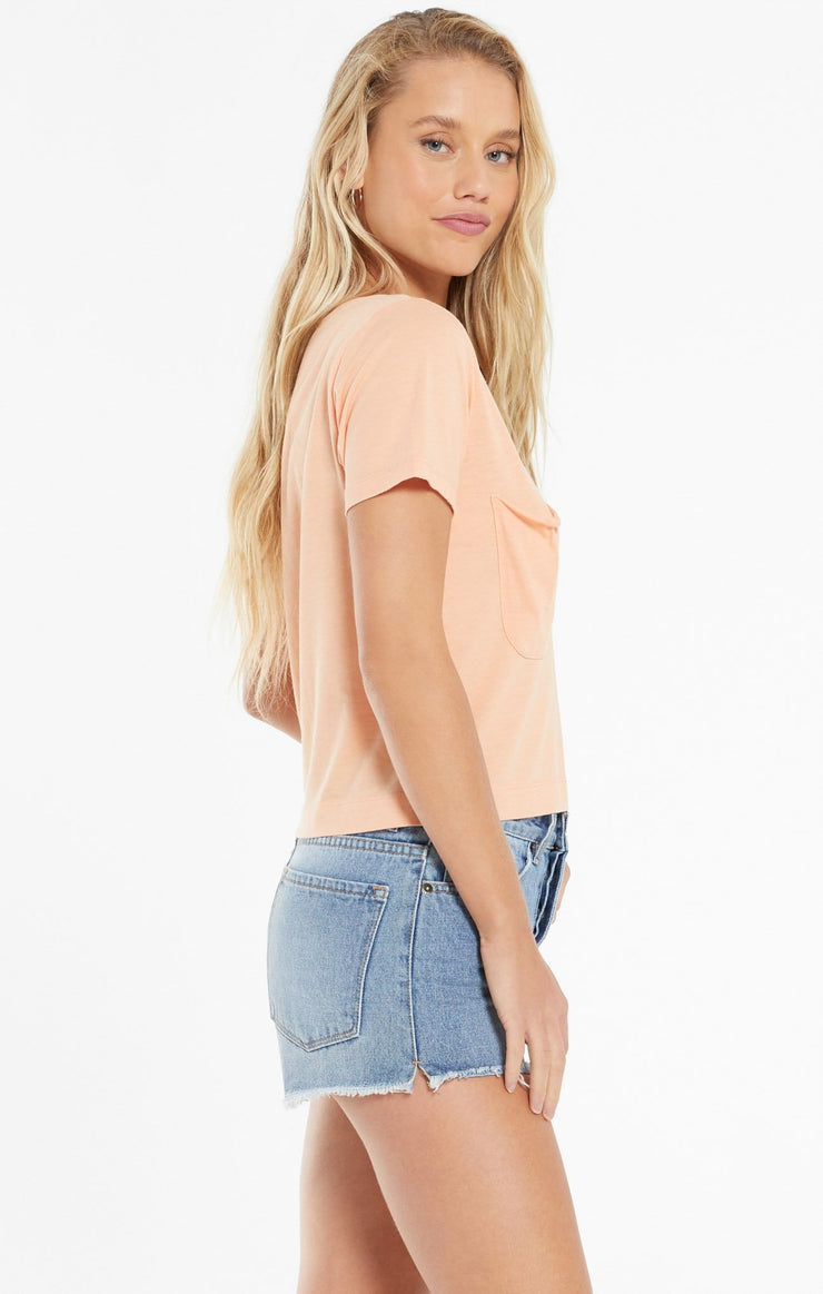 The Classic Skimmer Crop Tee (Sunkissed)