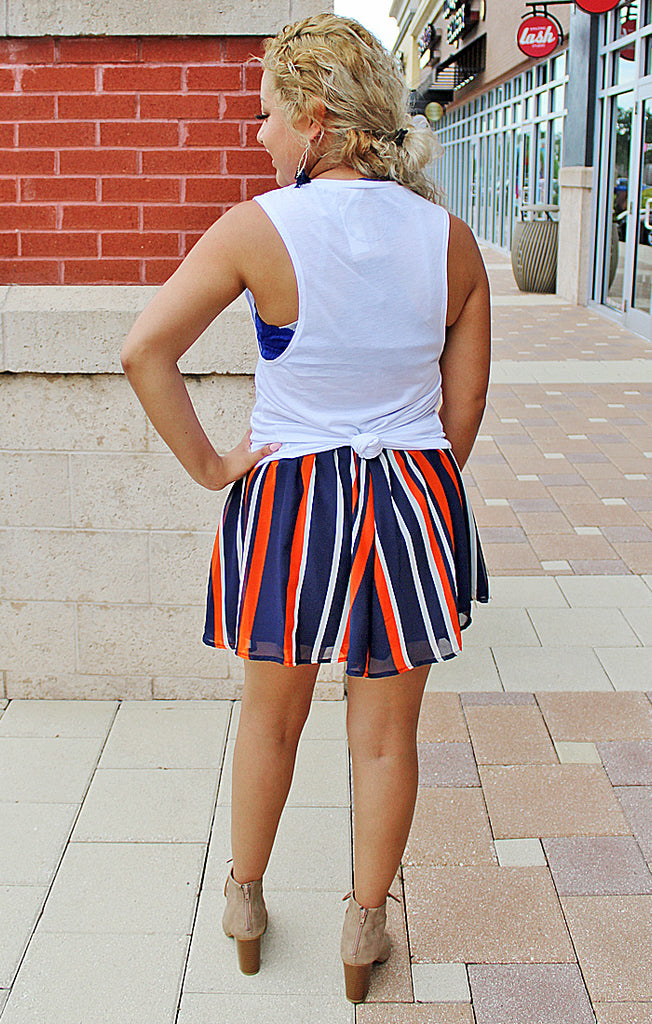 The Auburn Navy and Orange Swing Short