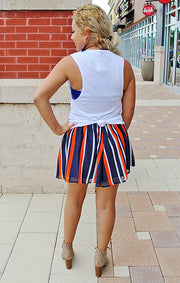 The Auburn Navy and Orange Swing Short (3841005617200)