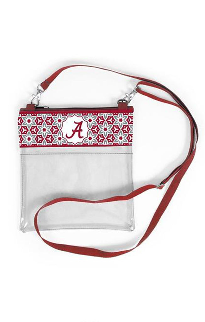 Alabama Clear Game Day Crossbody Clear Bag Desden - Bows and Arrows FSU Seminoles and UF Gators Women's Game Day Dresses and Apparel