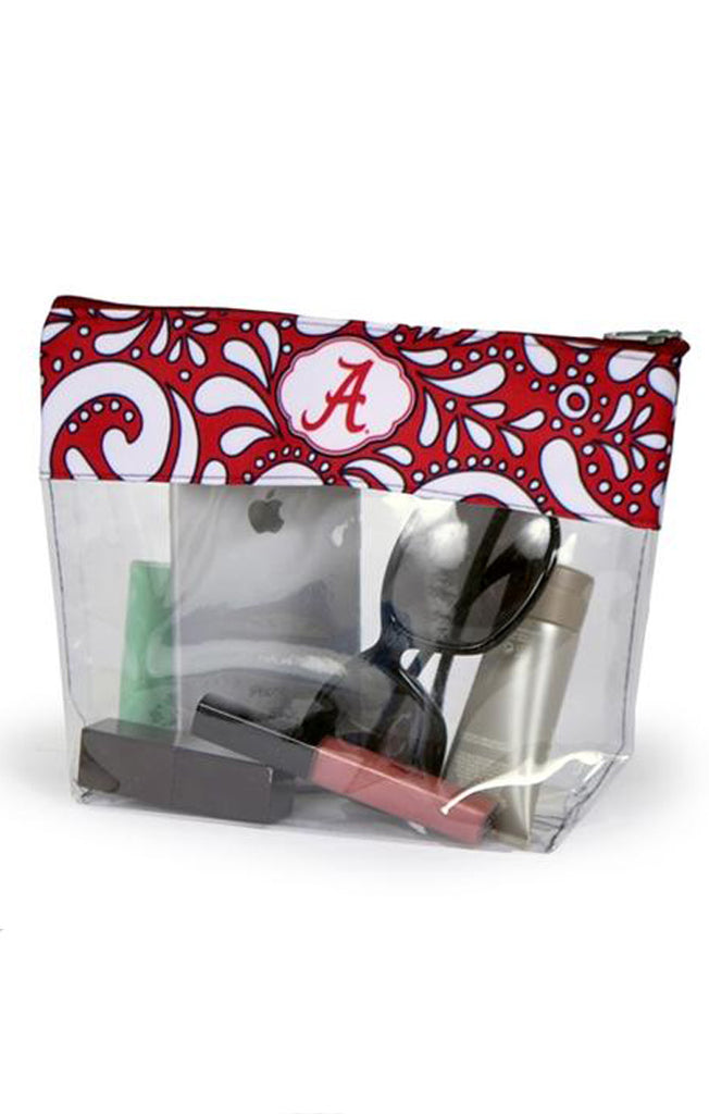 Alabama Clear Travel Pouch Clear Bag Desden - Bows and Arrows FSU Seminoles and UF Gators Women's Game Day Dresses and Apparel