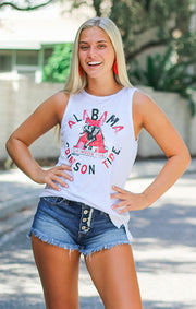 The Lindsay Crimson Tide Muscle Tank