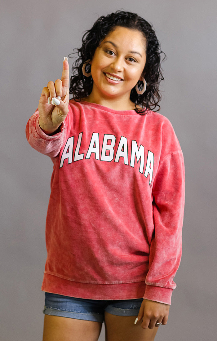 Alabama Now and Zen Vintage Velour Pullover